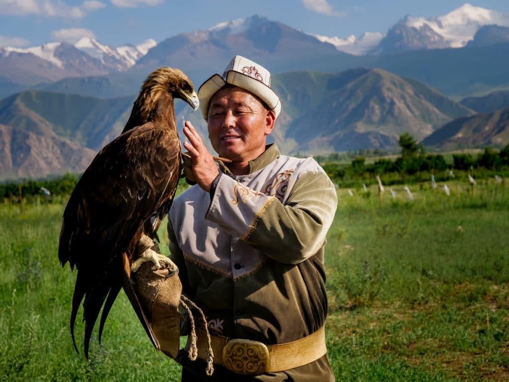 Kirgizija, erelio medžioklė lietuviaikeliauja.lt